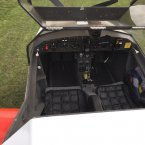 G-MYGN Cockpit of a Chevvron Microlight