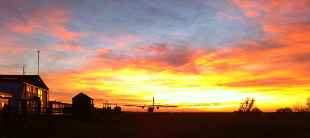 Sunset at Chatteris Airfield